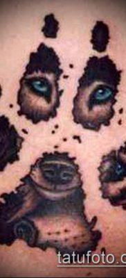 фото ТАТУИРОВКА ЛАПА (Tattoo) (значение) – пример рисунка – 036 tatufoto.com