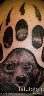 фото ТАТУИРОВКА ЛАПА (Tattoo) (значение) – пример рисунка – 045 tatufoto.com