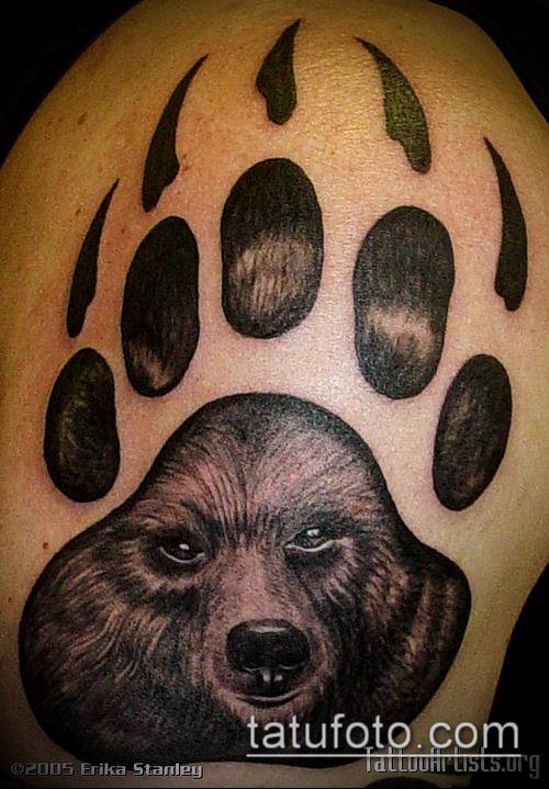 Наколки с изображением медведя