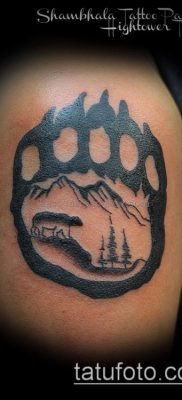 bear paw tattoo 2