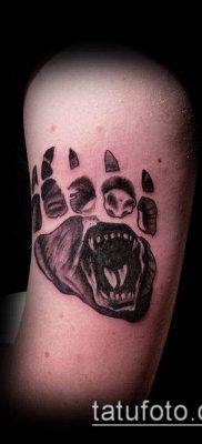 фото ТАТУИРОВКА ЛАПА (Tattoo) (значение) – пример рисунка – 055 tatufoto.com