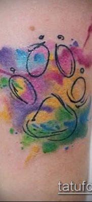 фото ТАТУИРОВКА ЛАПА (Tattoo) (значение) – пример рисунка – 056 tatufoto.com