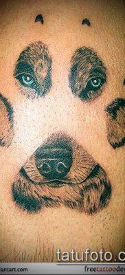 фото ТАТУИРОВКА ЛАПА (Tattoo) (значение) – пример рисунка – 057 tatufoto.com