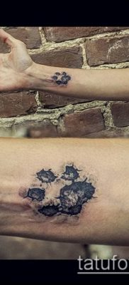 фото ТАТУИРОВКА ЛАПА (Tattoo) (значение) – пример рисунка – 061 tatufoto.com
