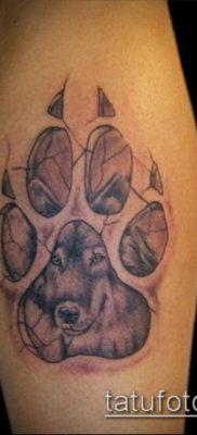 фото ТАТУИРОВКА ЛАПА (Tattoo) (значение) – пример рисунка – 066 tatufoto.com