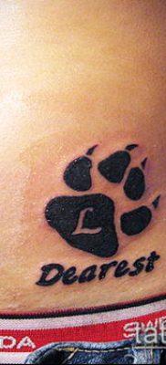 фото ТАТУИРОВКА ЛАПА (Tattoo) (значение) – пример рисунка – 068 tatufoto.com