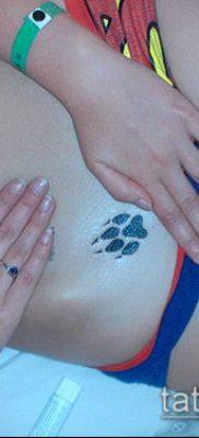 фото ТАТУИРОВКА ЛАПА (Tattoo) (значение) – пример рисунка – 122 tatufoto.com