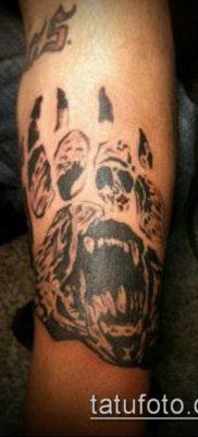 фото ТАТУИРОВКА ЛАПА (Tattoo) (значение) – пример рисунка – 127 tatufoto.com