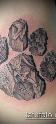 фото ТАТУИРОВКА ЛАПА (Tattoo) (значение) – пример рисунка – 128 tatufoto.com