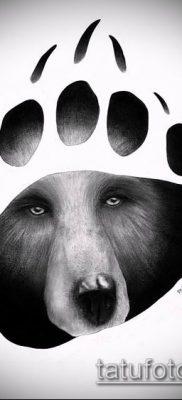 ТАТУИРОВКА ЛАПА №108 – крутой вариант рисунка, который легко можно использовать для доработки и нанесения как татуировка лапа тигра