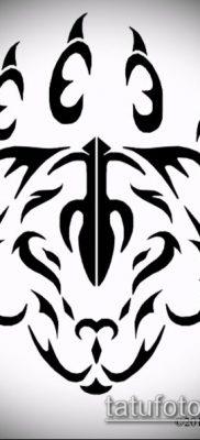 ТАТУИРОВКА ЛАПА №501 – прикольный вариант рисунка, который хорошо можно использовать для переработки и нанесения как татуировка лапа собаки