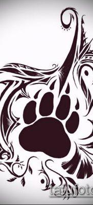 ТАТУИРОВКА ЛАПА №902 – классный вариант рисунка, который успешно можно использовать для переработки и нанесения как татуировка лапа ягуара