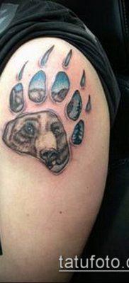 ТАТУИРОВКА ЛАПА №544 – достойный вариант рисунка, который легко можно использовать для переделки и нанесения как татуировка лапа ягуара