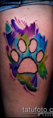 ТАТУИРОВКА ЛАПА №191 – достойный вариант рисунка, который успешно можно использовать для доработки и нанесения как татуировка лапа