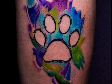 ТАТУИРОВКА ЛАПА №191 - достойный вариант рисунка, который успешно можно использовать для доработки и нанесения как татуировка лапа