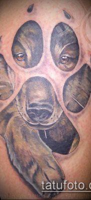 ТАТУИРОВКА ЛАПА №145 – эксклюзивный вариант рисунка, который удачно можно использовать для преобразования и нанесения как татуировка лапа на плече