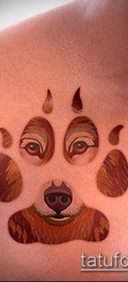 ТАТУИРОВКА ЛАПА №819 – интересный вариант рисунка, который хорошо можно использовать для преобразования и нанесения как тату лапка кошки