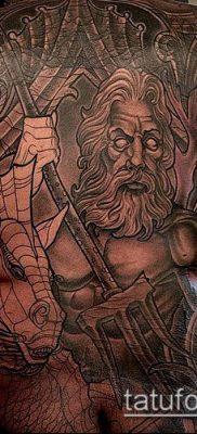 ТАТУИРОВКА ТРЕЗУБЕЦ №809 – классный вариант рисунка, который хорошо можно использовать для доработки и нанесения как татуировка трезубец у девушки