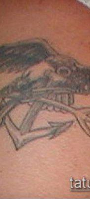 ТАТУИРОВКА ТРЕЗУБЕЦ №490 – крутой вариант рисунка, который легко можно использовать для преобразования и нанесения как татуировка трезубец