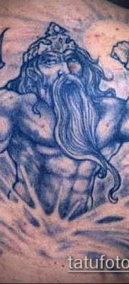 ТАТУИРОВКА ТРЕЗУБЕЦ №804 – классный вариант рисунка, который удачно можно использовать для доработки и нанесения как татуировка трезубец на шее