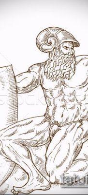ТАТУИРОВКА ТРЕЗУБЕЦ №178 – крутой вариант рисунка, который удачно можно использовать для переделки и нанесения как татуировка трезубец на шее
