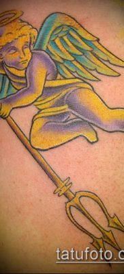 ТАТУИРОВКА ТРЕЗУБЕЦ №622 – достойный вариант рисунка, который хорошо можно использовать для преобразования и нанесения как татуировка трезубец шивы