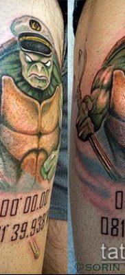 ТАТУИРОВКА ТРЕЗУБЕЦ №881 – интересный вариант рисунка, который удачно можно использовать для доработки и нанесения как татуировка трезубец