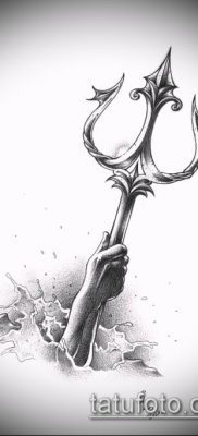 ТАТУИРОВКА ТРЕЗУБЕЦ №297 – классный вариант рисунка, который удачно можно использовать для преобразования и нанесения как татуировка трезубец украины