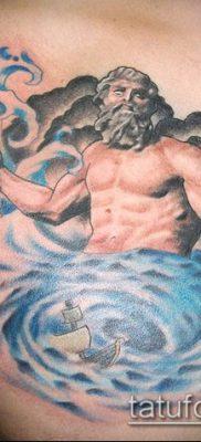 ТАТУИРОВКА ТРЕЗУБЕЦ №87 – крутой вариант рисунка, который удачно можно использовать для доработки и нанесения как татуировка трезубец у девушки