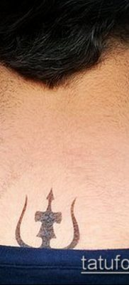 ТАТУИРОВКА ТРЕЗУБЕЦ №559 – прикольный вариант рисунка, который легко можно использовать для доработки и нанесения как татуировка трезубец на шее