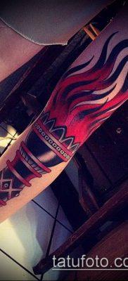 ТАТУИРОВКА ФАКЕЛ №854 – прикольный вариант рисунка, который легко можно использовать для переделки и нанесения как татуировка факел