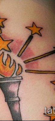 ТАТУИРОВКА ФАКЕЛ №140 – интересный вариант рисунка, который хорошо можно использовать для доработки и нанесения как татуировка факел в колючей проволоке