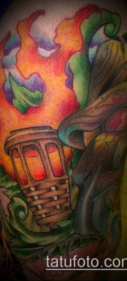 ТАТУИРОВКА ФАКЕЛ №475 – эксклюзивный вариант рисунка, который легко можно использовать для доработки и нанесения как татуировка факел на левой руке