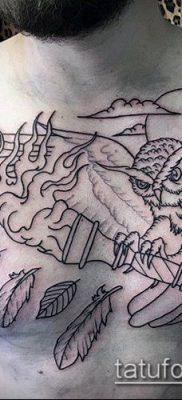 ТАТУИРОВКА ФАКЕЛ №609 – достойный вариант рисунка, который удачно можно использовать для преобразования и нанесения как татуировка факел в колючей проволоке