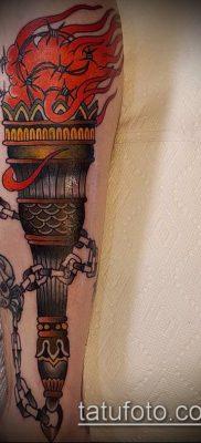 ТАТУИРОВКА ФАКЕЛ №866 – крутой вариант рисунка, который успешно можно использовать для преобразования и нанесения как татуировка факел на пальце