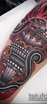 ТАТУИРОВКА ФАКЕЛ №795 – крутой вариант рисунка, который хорошо можно использовать для переработки и нанесения как татуировка горящий факел