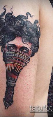 ТАТУИРОВКА ФАКЕЛ №51 – эксклюзивный вариант рисунка, который удачно можно использовать для переделки и нанесения как татуировка факела на руке