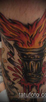 ТАТУИРОВКА ФАКЕЛ №772 – уникальный вариант рисунка, который легко можно использовать для преобразования и нанесения как татуировка факел на плече