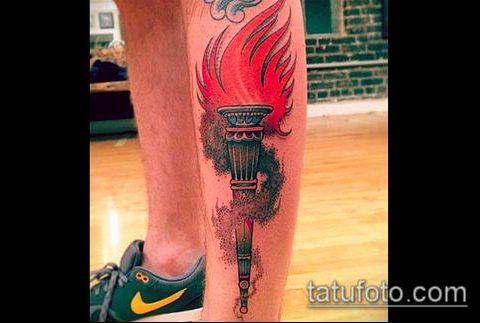 ТАТУИРОВКА ФАКЕЛ №320 - достойный вариант рисунка, который удачно можно использовать для доработки и нанесения как татуировка факел на плече