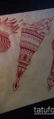 ТАТУИРОВКА ФАКЕЛ №143 – классный вариант рисунка, который хорошо можно использовать для переделки и нанесения как татуировка факел в колючей проволоке