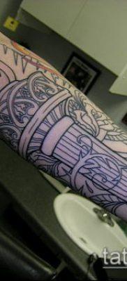 ТАТУИРОВКА ФАКЕЛ №626 – эксклюзивный вариант рисунка, который успешно можно использовать для переработки и нанесения как татуировка факел и колючая проволока