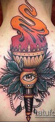 ТАТУИРОВКА ФАКЕЛ №110 – эксклюзивный вариант рисунка, который хорошо можно использовать для переработки и нанесения как татуировка факела на руке