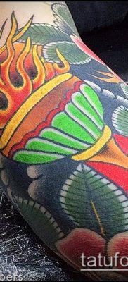 ТАТУИРОВКА ФАКЕЛ №174 – крутой вариант рисунка, который хорошо можно использовать для переделки и нанесения как татуировка факел