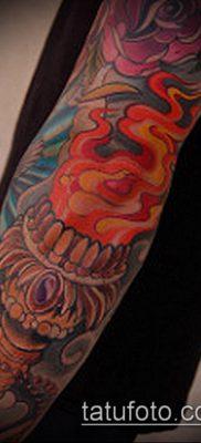 ТАТУИРОВКА ФАКЕЛ №492 – эксклюзивный вариант рисунка, который хорошо можно использовать для переделки и нанесения как татуировка факел свободы