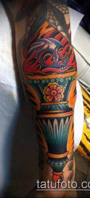 ТАТУИРОВКА ФАКЕЛ №406 – прикольный вариант рисунка, который хорошо можно использовать для переработки и нанесения как татуировка факел и колючая проволока