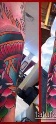 ТАТУИРОВКА ФАКЕЛ №899 – достойный вариант рисунка, который удачно можно использовать для переработки и нанесения как татуировка факел и колючая проволока