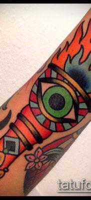 ТАТУИРОВКА ФАКЕЛ №667 – эксклюзивный вариант рисунка, который удачно можно использовать для доработки и нанесения как татуировка факел в руке
