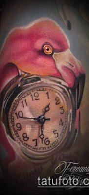 ТАТУИРОВКА ФЛАМИНГО №274 – классный вариант рисунка, который удачно можно использовать для переработки и нанесения как татуировка фламинго на ноге
