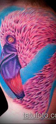 ТАТУИРОВКА ФЛАМИНГО №168 – классный вариант рисунка, который удачно можно использовать для преобразования и нанесения как татуировка фламинго