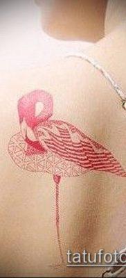 ТАТУИРОВКА ФЛАМИНГО №478 – достойный вариант рисунка, который легко можно использовать для переработки и нанесения как татуировка фламинго на ноге